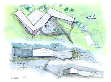 V02 Lageplan_Ansicht_Perspektive Skizzen PS W